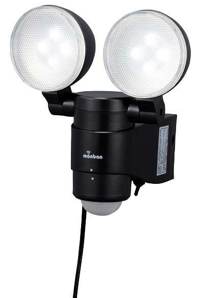 LED ソーラー発電式 センサーライト 2灯