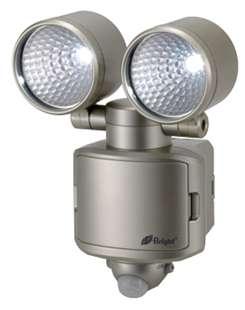 LEDセンサーライト 6W/400lm 2灯 H-220