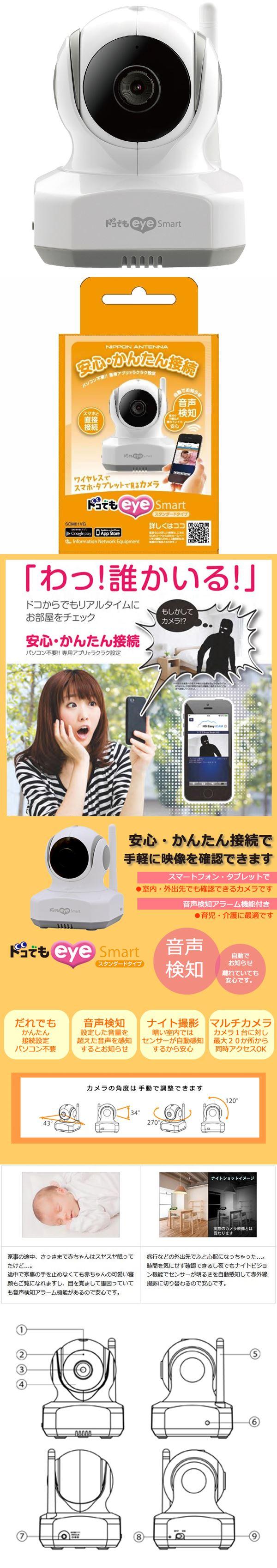 日本アンテナ ワイヤレスカメラ スタンダードタイプ SCM01VG