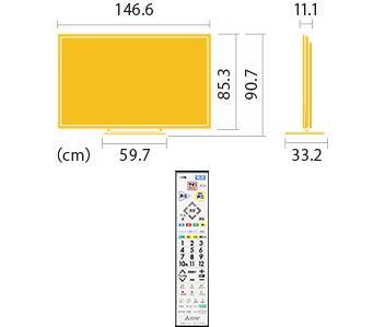 三菱 REAL 65型液晶テレビ LCD-65LBW7H